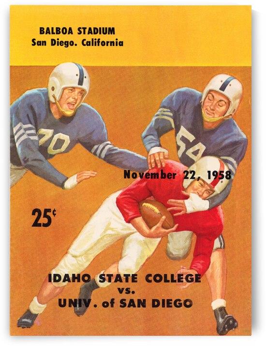 1958 Idaho State Bengals vs. San Diego Pioneers   Row 1 by Row One Brand