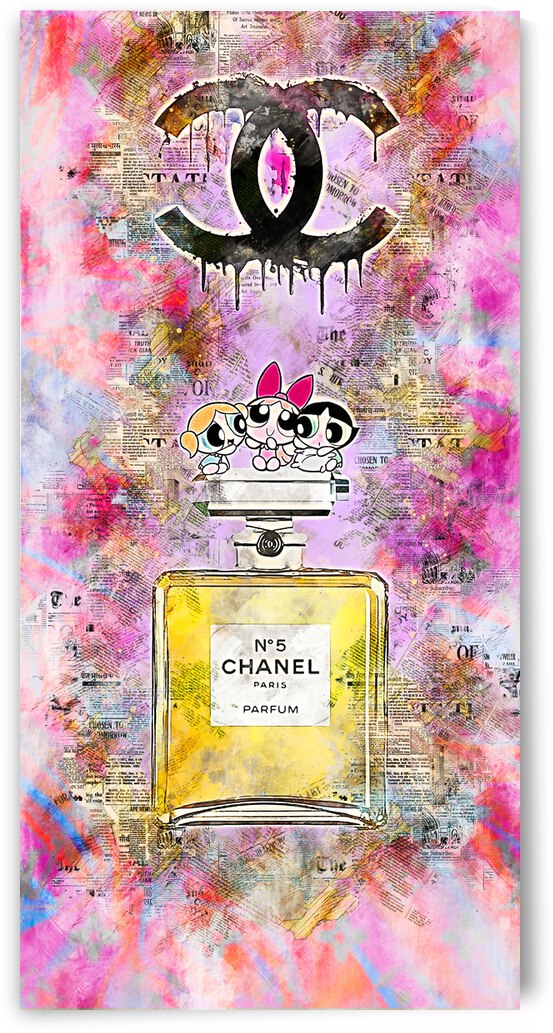 chanel 5 Pop art by Benny Arte