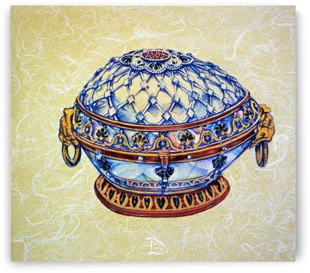 Freehand Renaissance Egg by Lowell Phoenix Devin