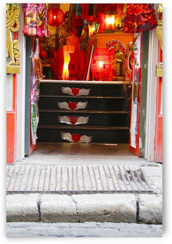 Storefront Steps, Dublin, Ireland by Tara K
