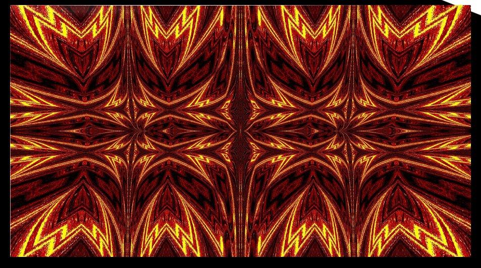 Aztec Sun Fire 8 by Sherrie Larch