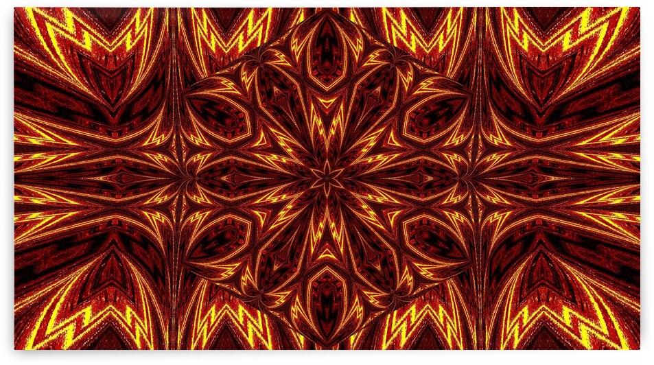 Aztec Sun Fire 9 by Sherrie Larch