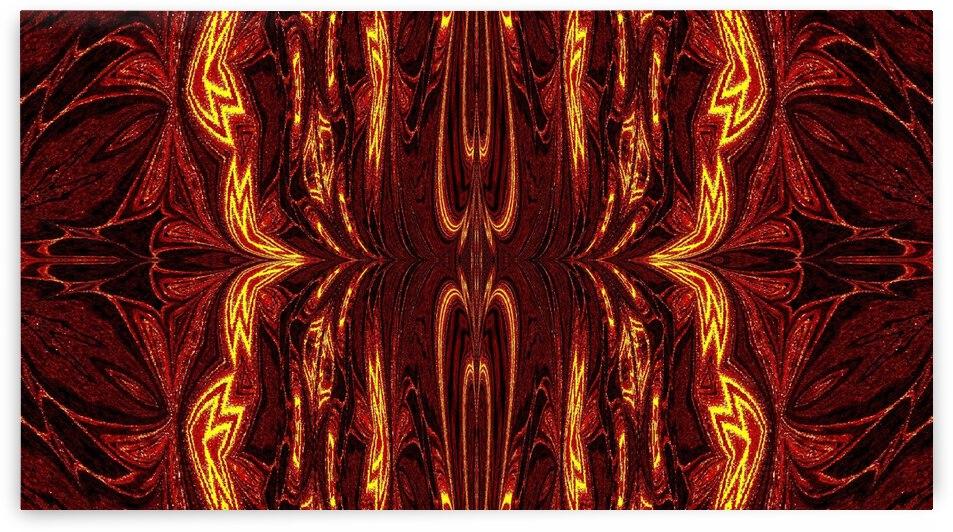 Aztec Sun Fire 12 by Sherrie Larch