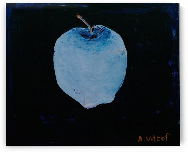 Apple knowledge 1. 2014 Painter Alik Vetrof mdf oil 25x30 cm by Vetrof Alik