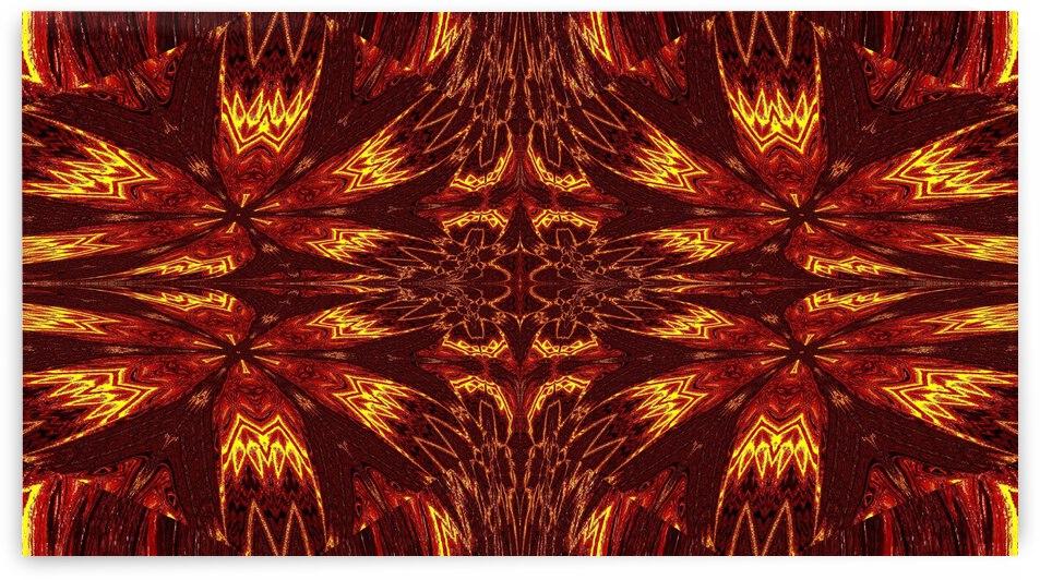 Aztec Sun Fire 42 by Sherrie Larch