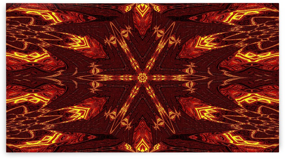 Aztec Sun Fire 45 by Sherrie Larch