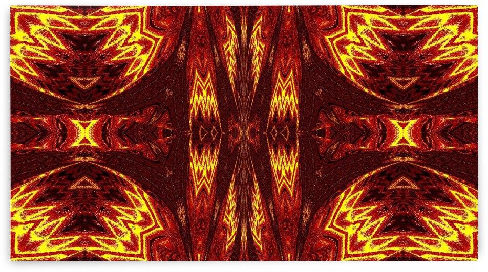 Aztec Sun Fire 49 by Sherrie Larch