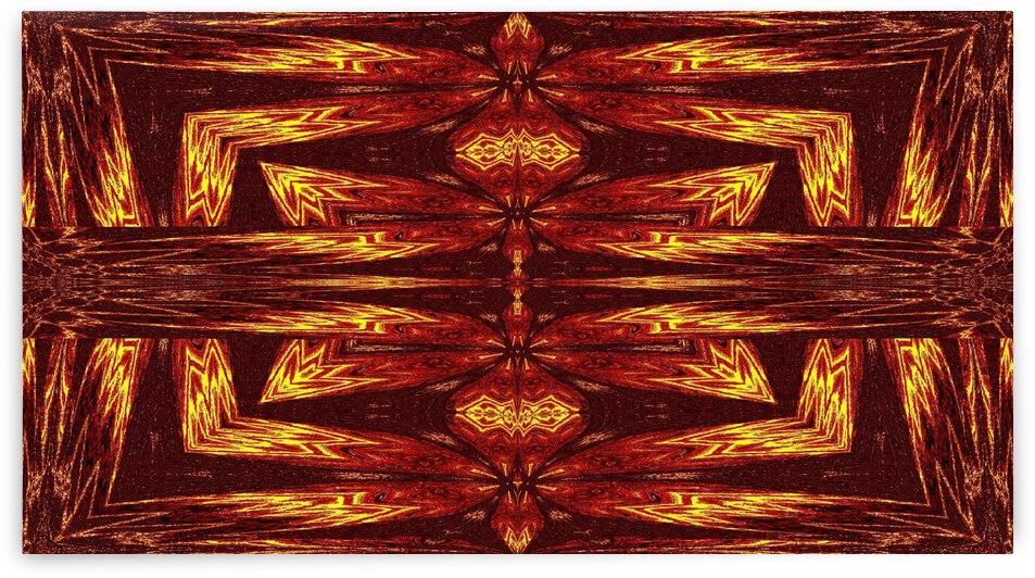 Aztec Sun Fire 68 by Sherrie Larch