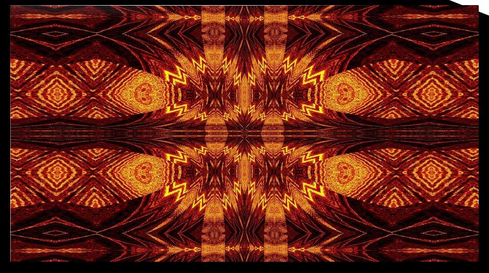 Aztec Sun Fire 69 by Sherrie Larch