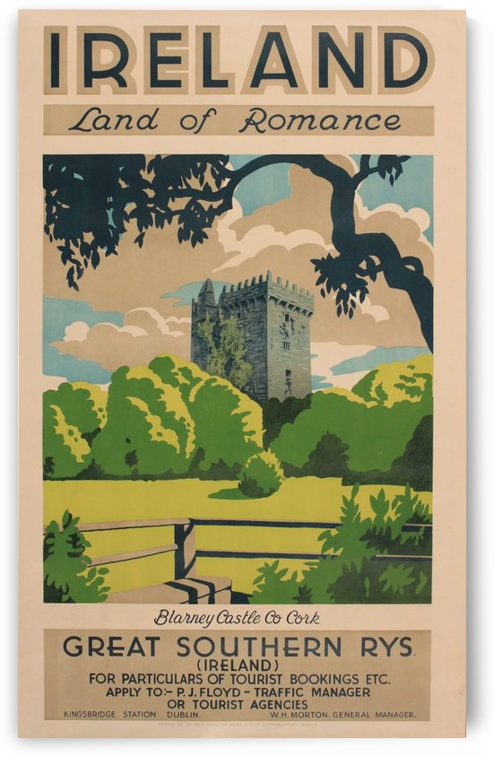 Ireland Great Southern Rys Blarney Castle travel poster by VINTAGE POSTER