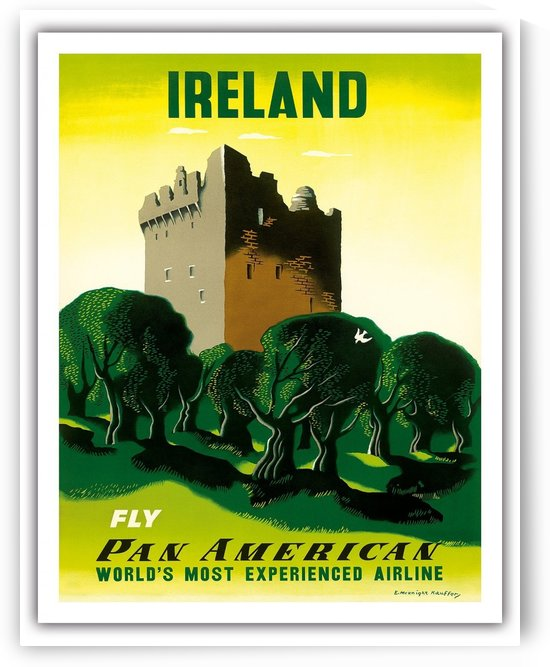 Ireland Fly Pan American travel poster by VINTAGE POSTER