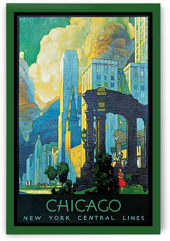 Chicago vintage poster by VINTAGE POSTER