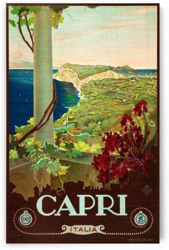 Capri Travel Poster by VINTAGE POSTER