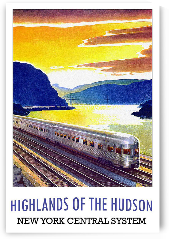 Highlands of the Hudson New York Central System by VINTAGE POSTER