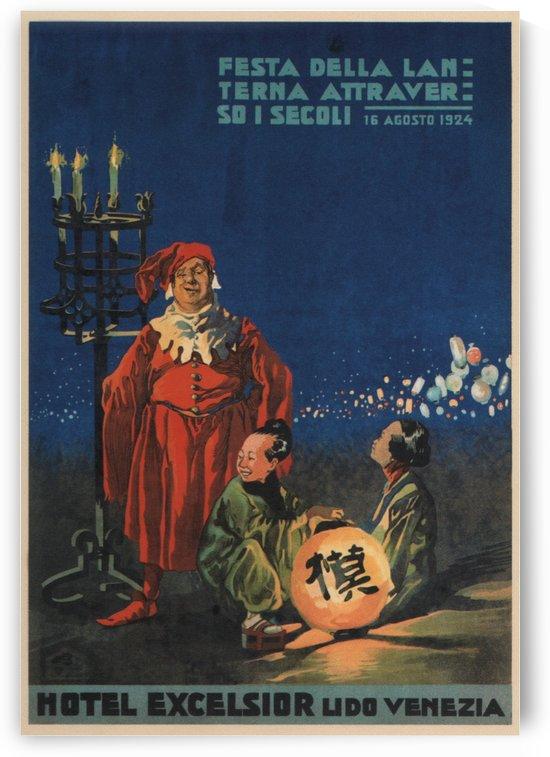 Hotel Excelsior Lido Venezia vintage poster 1924 by VINTAGE POSTER