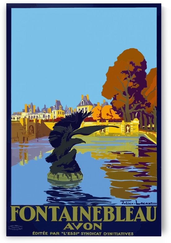 Vintage Travel Poster Fontainebleau Paris France by VINTAGE POSTER