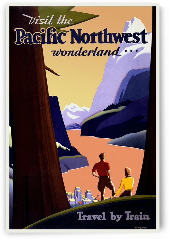 Visit the Pacific Northwest wonderland travel poster by VINTAGE POSTER
