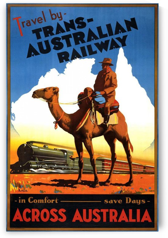 Trans Australian Railway travel poster by VINTAGE POSTER