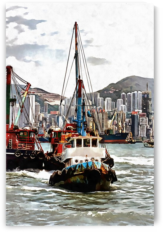 Boats and Skyscrapers Hong Kong by Dorothy Berry-Lound