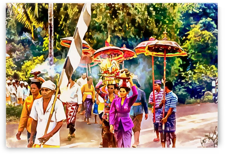 Ceremony Procession With Offerings by Dorothy Berry-Lound