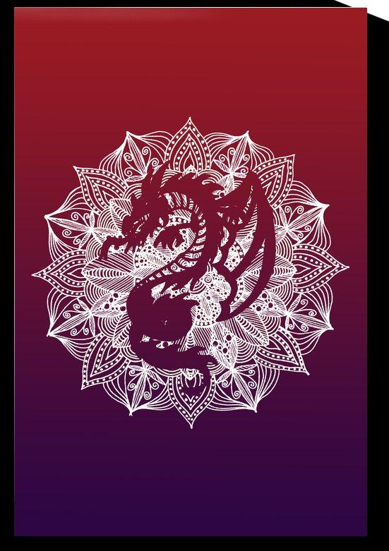 Mandala Circle Dragon by ZeichenbloQ
