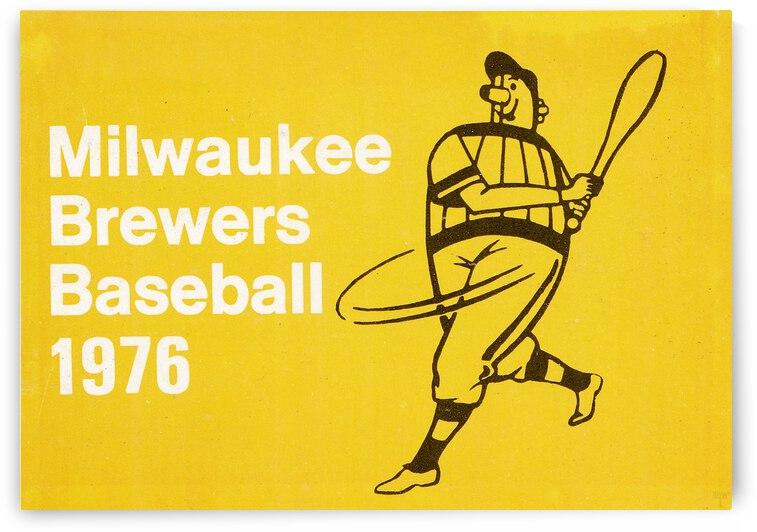 1976 Milwaukee Brewers Retro Baseball Art | Row 1 by Row One Brand