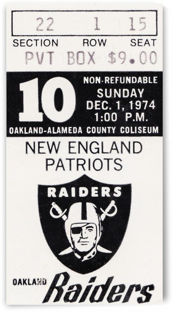 1974 New England Patriots vs. Oakland Raiders   Row 1  by Row One Brand