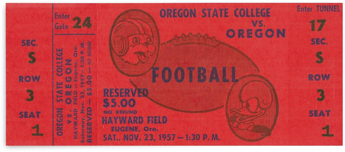 1957 Oregon State College Beavers vs. Oregon Webfoots | Row 1 by Row One Brand