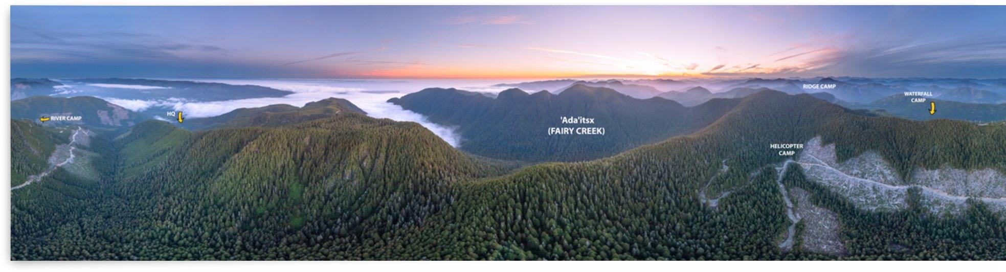 Fairy Creek Panorama by Arvin Singh Uzunov Dang