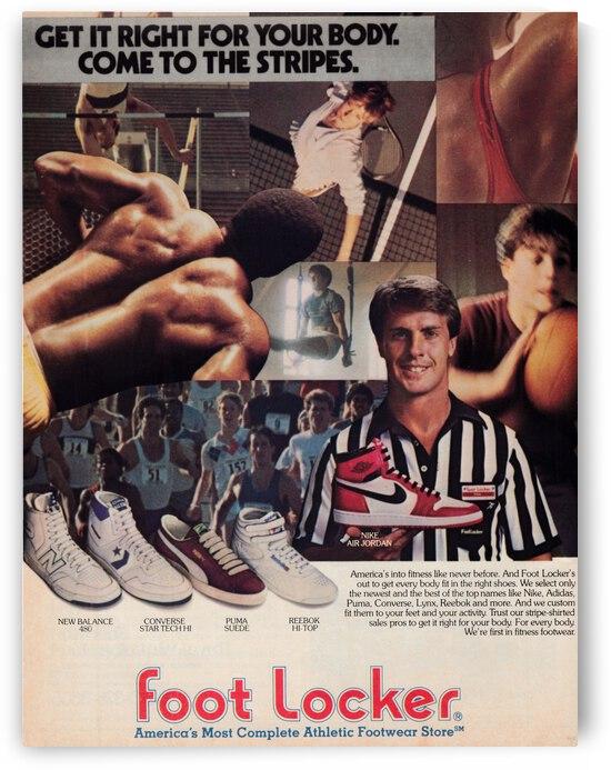 1985 Footlocker Ad Featuring Nike Air Jordan 1 Shoe   Row 1 by Row One Brand