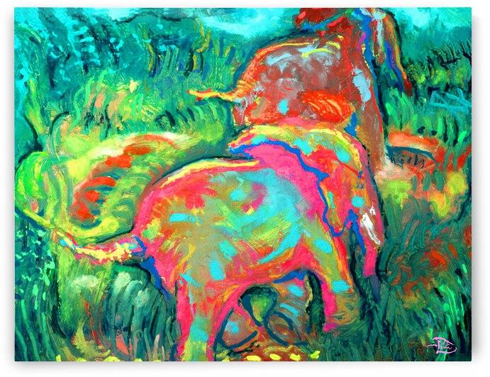 Childrens Elephant Print - Super Mural Option by Lowell Phoenix Devin