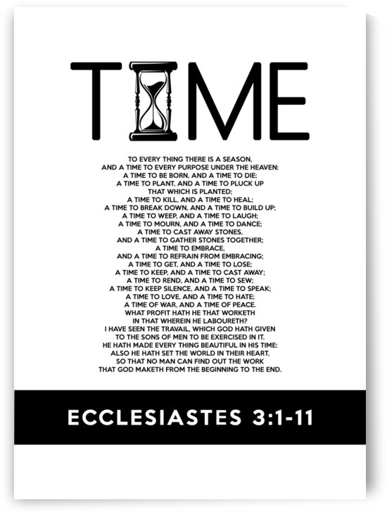 Ecclesiastes 3:1-11 Bible Verse Wall Art by ABConcepts