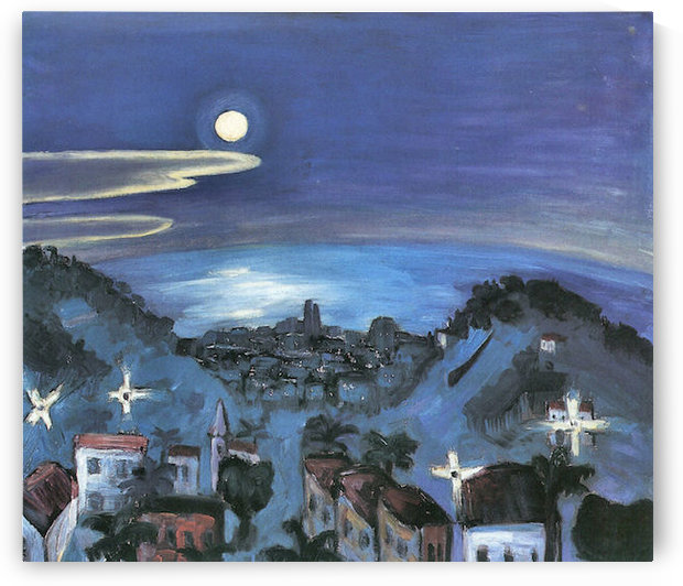 Barcelona (view of the city by night) by Walter Gramatte by Walter Gramatte
