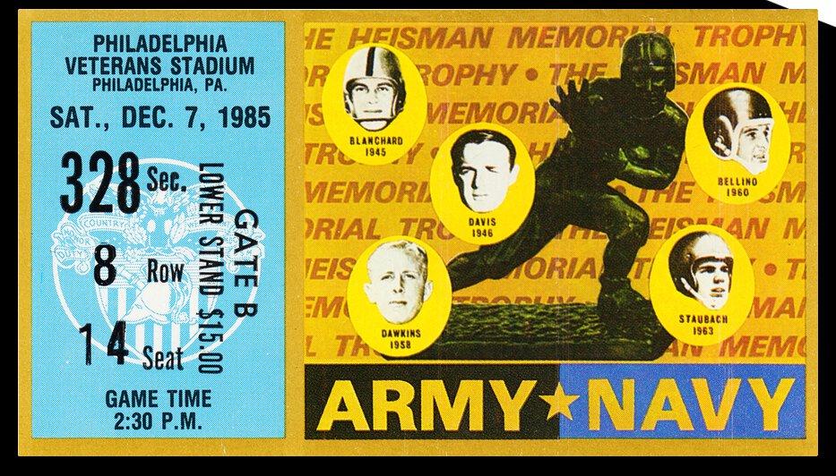 1985 Army vs. Navy Football Ticket Art | Row 1 by Row One Brand