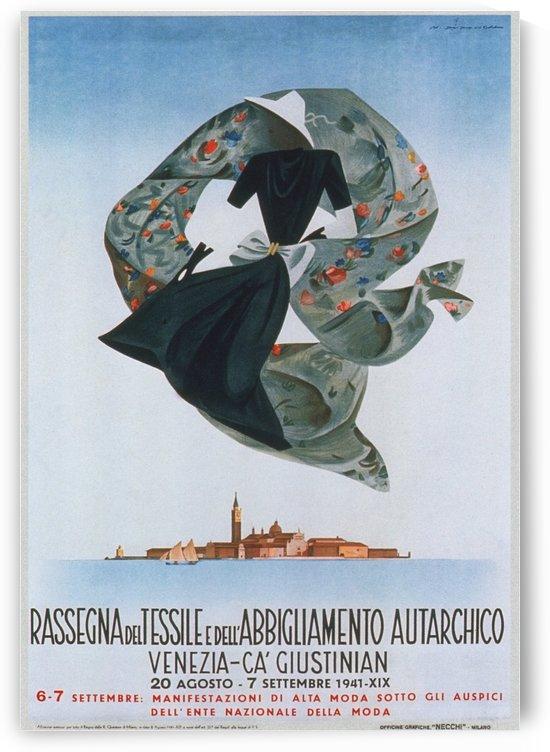 1941 poster Rasegma del Tessile e dell Abbigliamento Autarchico, Venezia by VINTAGE POSTER