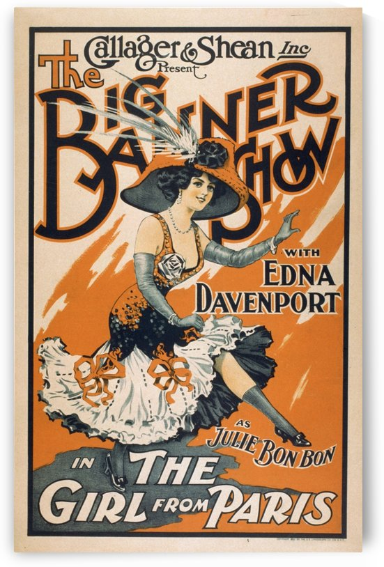 The Big Banner Show the Girl From Paris Vintage Theater Poster by VINTAGE POSTER