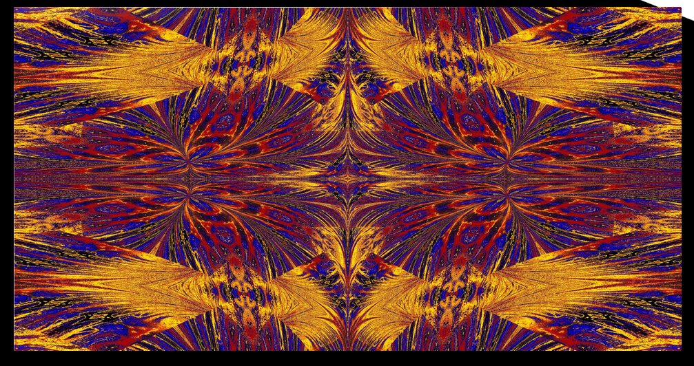 Gold and Blue Nasma 5 by Sherrie Larch
