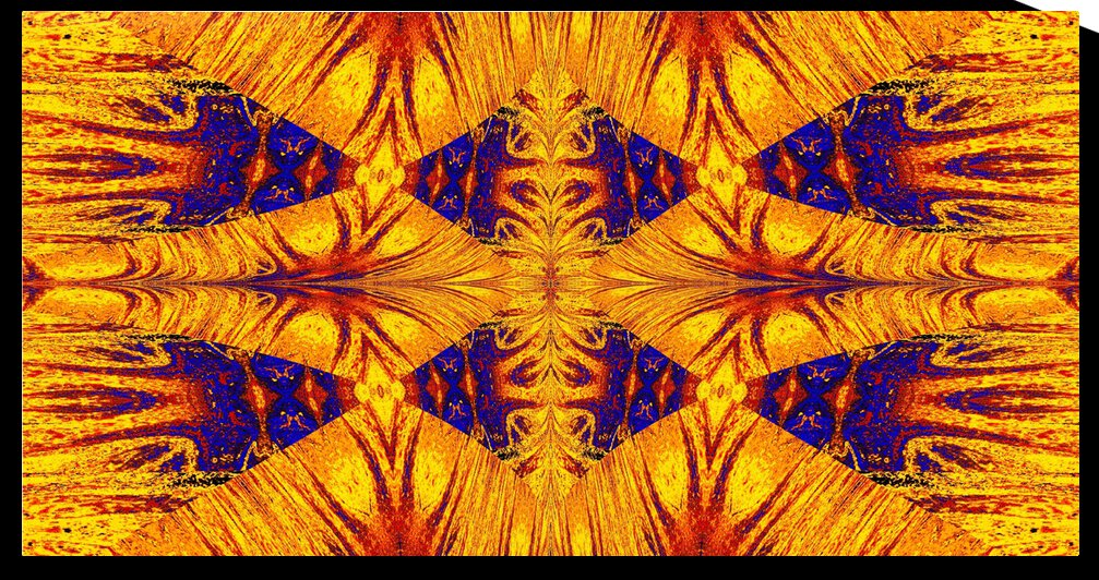 Gold and Blue Nasma 7 by Sherrie Larch