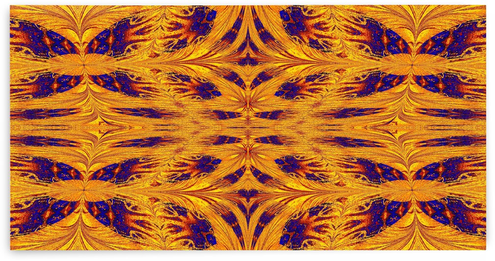 Gold and Blue Nasma 11 by Sherrie Larch
