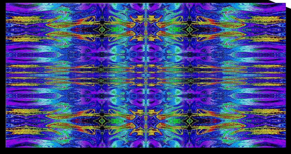 Purple and Gold Nasma 1 by Sherrie Larch