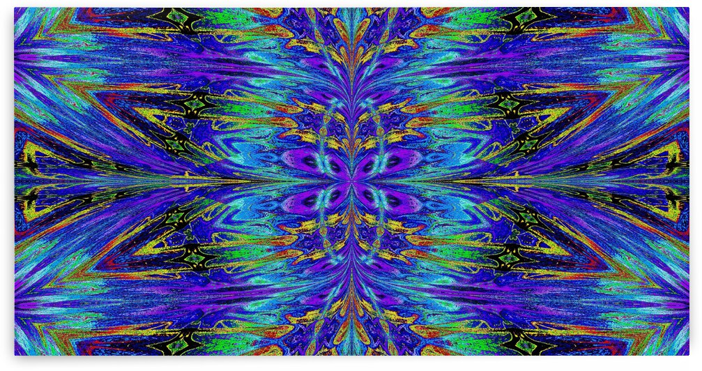 Purple and Gold Nasma 3 by Sherrie Larch