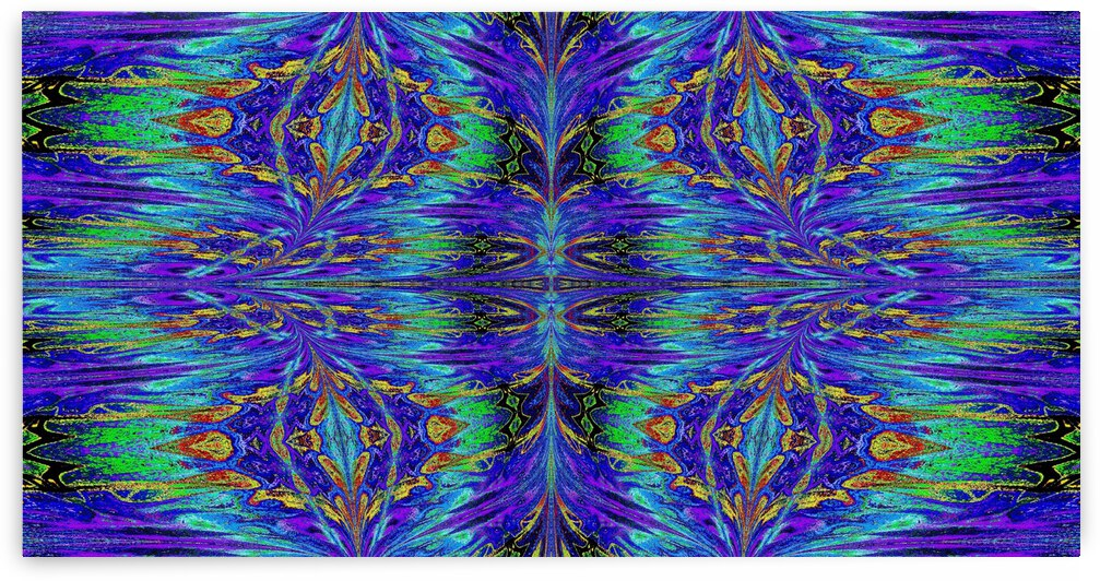 Purple and Gold Nasma 7 by Sherrie Larch
