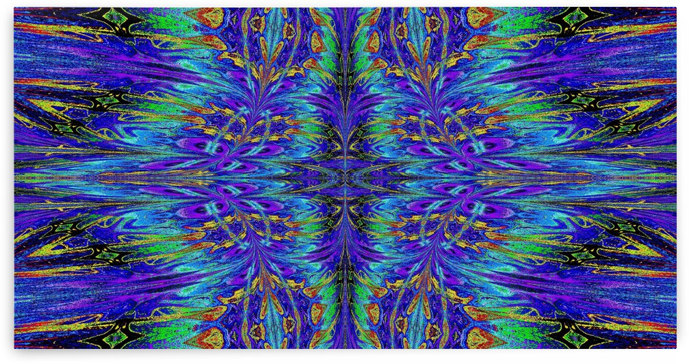 Purple and Gold Nasma 8 by Sherrie Larch