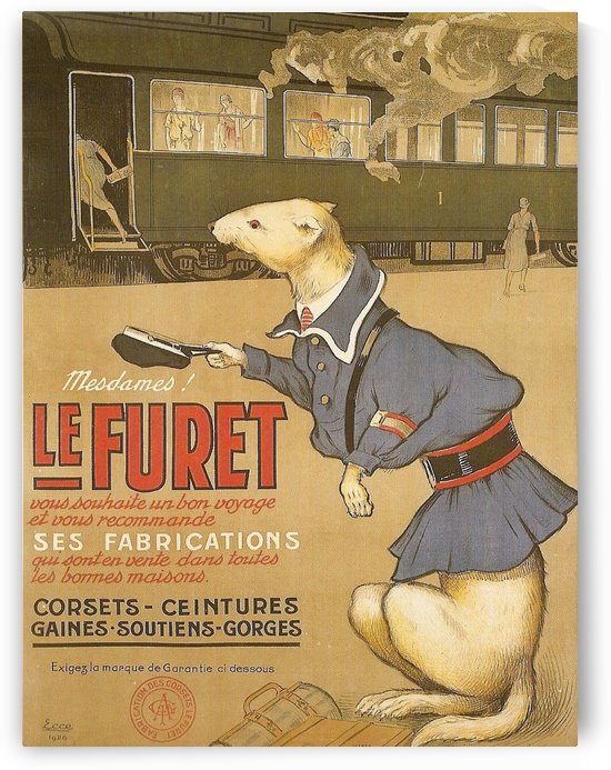Marcello Dudovich poster for Le Furet, 1921 by VINTAGE POSTER