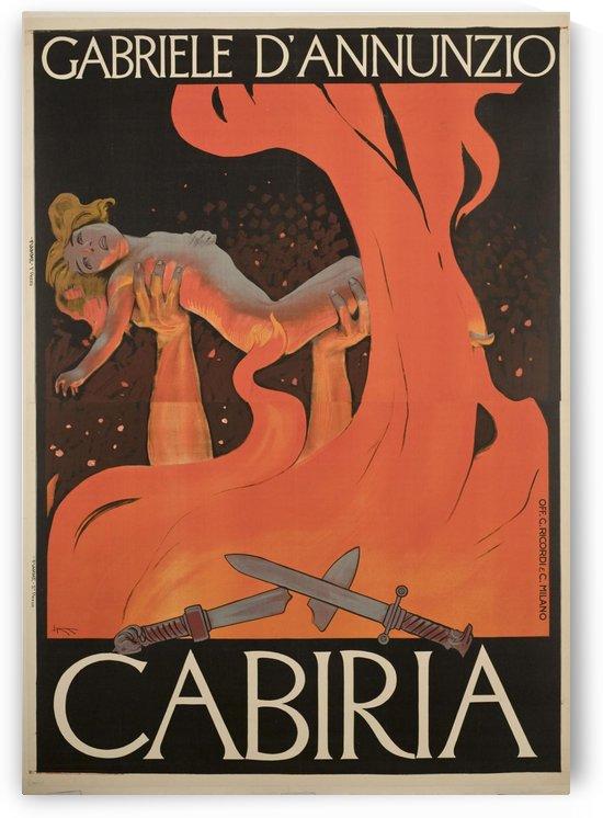 Locandina del film muto Cabiria di Giovanni Pastrone 1914 by VINTAGE POSTER