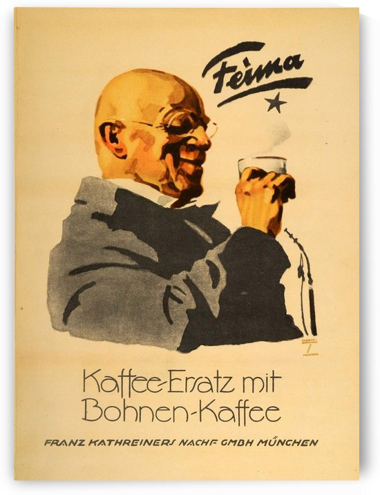 1926 Ludwig Hohlwein Feima Kaffee Ersatz Coffee Poster by VINTAGE POSTER