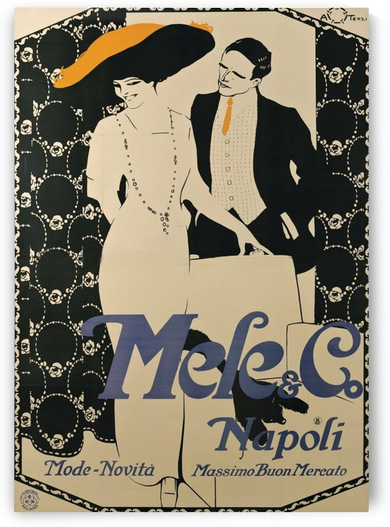 Vintage Poster for Italian Fashion Company by VINTAGE POSTER