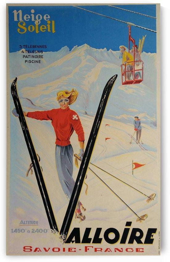 Original vintage poster ski Valloire Savoie France Neige Soleil by VINTAGE POSTER