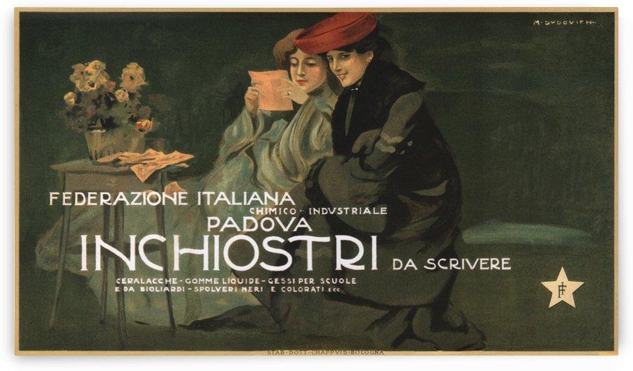 Federazione Italiana Chimico Industriale Padova Inchiostri Da Scrivere Poster by VINTAGE POSTER