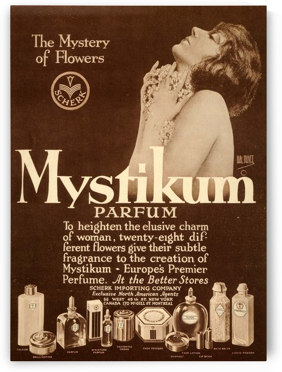 Mystikum perfume ad photo 1925 by VINTAGE POSTER